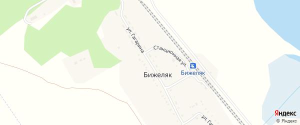 Улица Гагарина на карте поселка Бижеляка с номерами домов