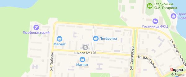 Улица Пищерова на карте Снежинска с номерами домов
