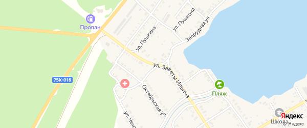Улица Заветы Ильича на карте Касли с номерами домов