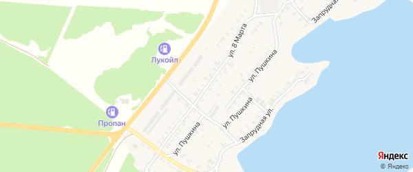 Улица 8 Марта на карте Касли с номерами домов