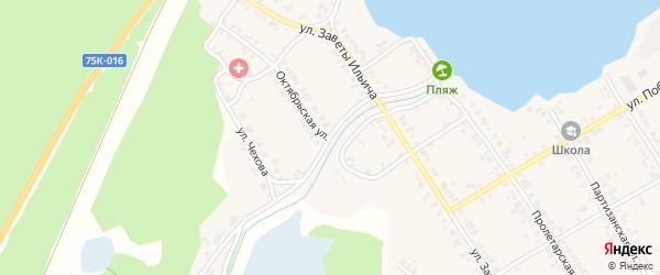 Октябрьская улица на карте Касли с номерами домов