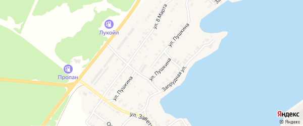 Улица Пушкина на карте Касли с номерами домов