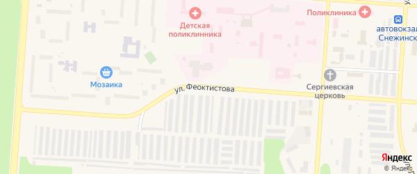 Улица им академика Л.П.Феоктистова на карте Снежинска с номерами домов