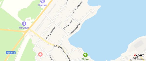 Запрудная улица на карте Касли с номерами домов