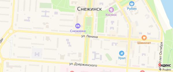 Улица Ленина на карте Снежинска с номерами домов