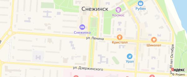 Территория ПК Надежда на карте Снежинска с номерами домов