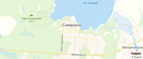 Карта Снежинска с районами, улицами и номерами домов