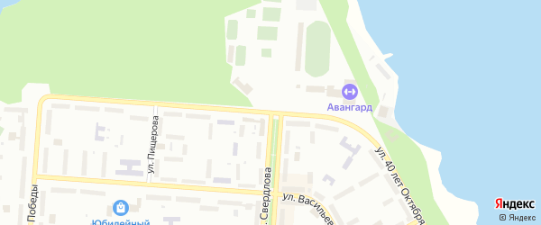 Улица 40 лет Октября на карте Снежинска с номерами домов