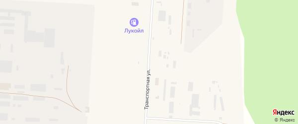 Транспортная улица на карте Снежинска с номерами домов