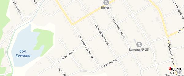Улица Шевченко на карте Касли с номерами домов