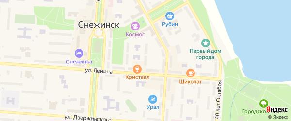 Территория Площадка 21 на карте Снежинска с номерами домов