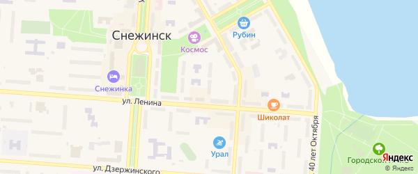 Территория Площадка 25 на карте Снежинска с номерами домов
