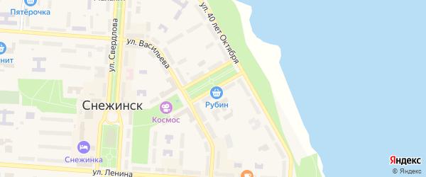 Бульвар Циолковского на карте Снежинска с номерами домов