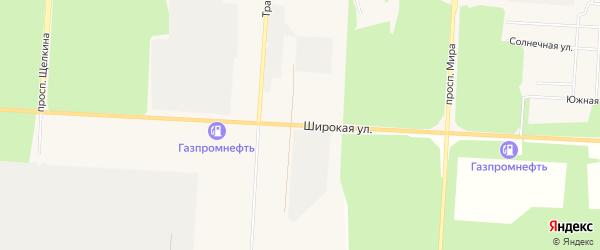 ГСК Потребительский гаражный кооперативN18 на карте Широкой улицы с номерами домов