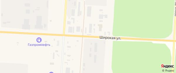 Широкая улица на карте Снежинска с номерами домов