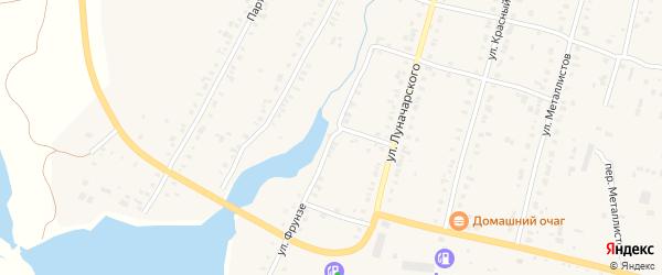 Улица Фрунзе на карте Касли с номерами домов