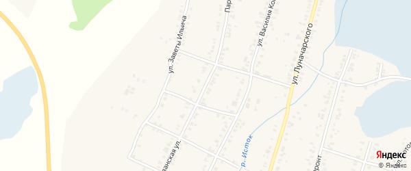 Партизанская улица на карте Касли с номерами домов