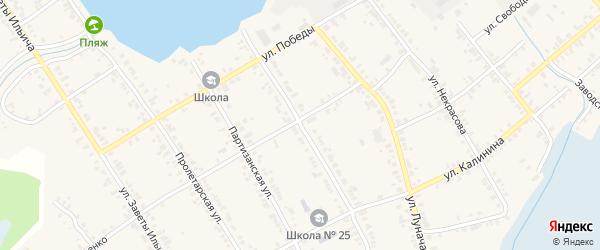 Территория ГСК Гранит на карте Касли с номерами домов