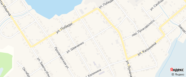Улица Подсобное хозяйство ДРСУ на карте Касли с номерами домов