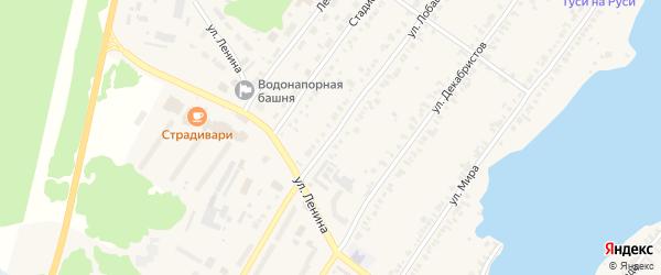 Улица Лобашова на карте Касли с номерами домов