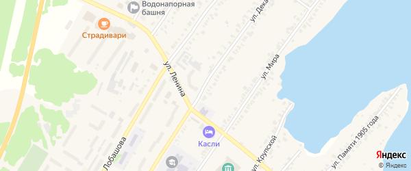 Улица Декабристов на карте Касли с номерами домов