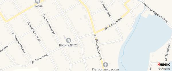 Улица Калинина на карте Касли с номерами домов