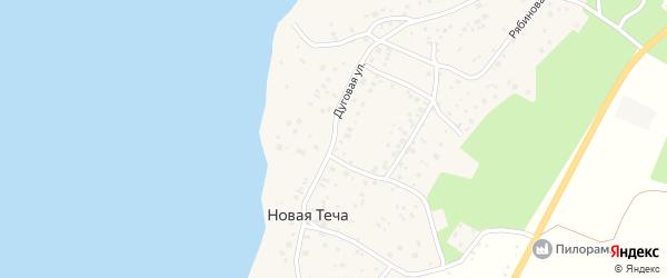 Дуговая улица на карте деревни Новой Течи с номерами домов