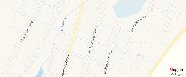 Переулок Красный Фронт на карте Касли с номерами домов