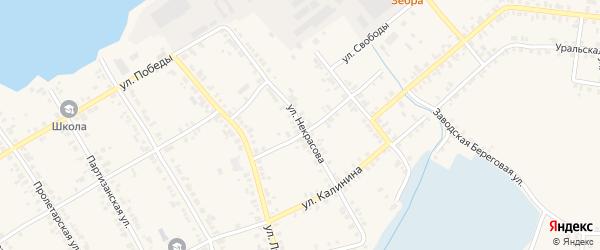 Улица Некрасова на карте Касли с номерами домов