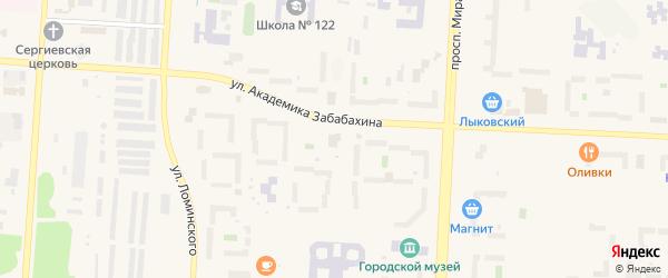 Территория Площадка 12 на карте Снежинска с номерами домов