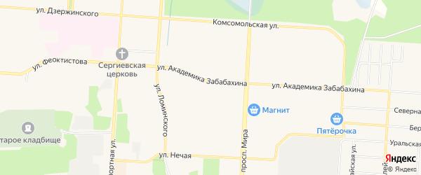 СТ Сад N 6 на карте Снежинска с номерами домов