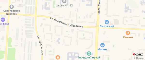Территория Площадка 11 на карте Снежинска с номерами домов