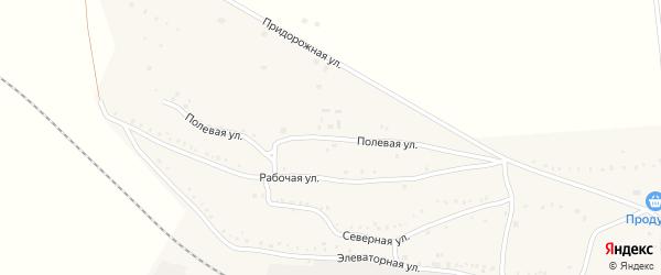 Полевая улица на карте поселка Бишкиля с номерами домов