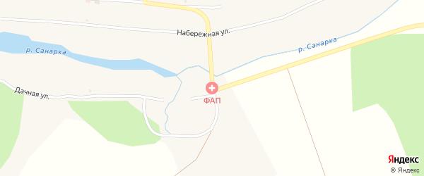 Восточный переулок на карте поселка Каменной Санарки с номерами домов
