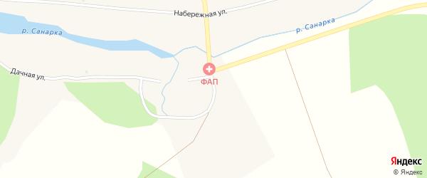 Заречная улица на карте поселка Каменной Санарки с номерами домов