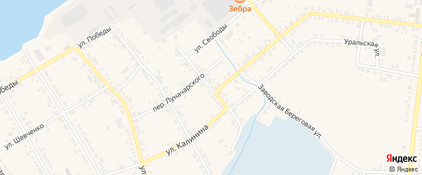 Красноармейская улица на карте Касли с номерами домов