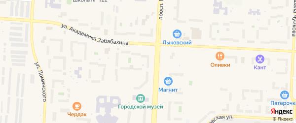 Территория Площадка 35 на карте Снежинска с номерами домов