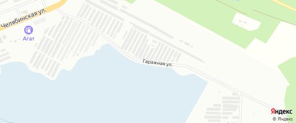 Гаражная улица на карте Озерска с номерами домов