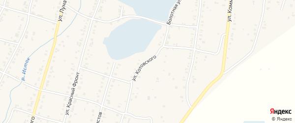 Улица Котовского на карте Касли с номерами домов