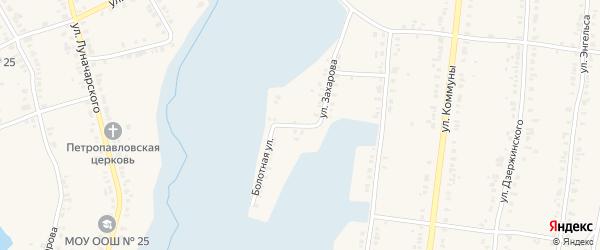 Улица Захарова на карте Касли с номерами домов