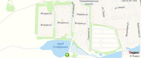 Восточная улица на карте Тимирязевского поселка с номерами домов