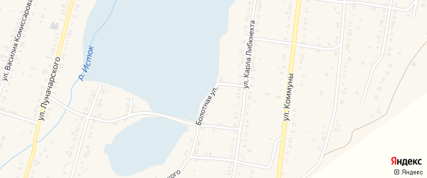 Болотная улица на карте Пригородного поселка с номерами домов