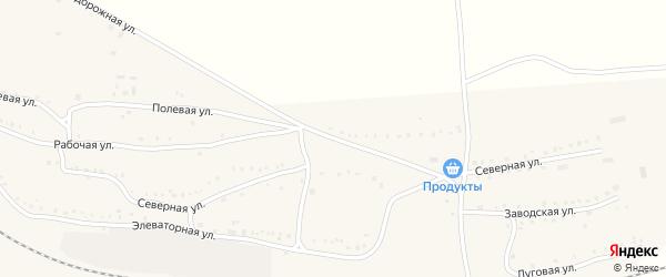 Северная улица на карте поселка Бишкиля с номерами домов