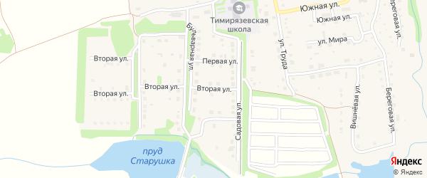 Вторая улица на карте Тимирязевского поселка с номерами домов