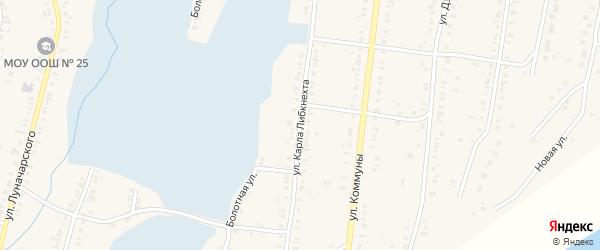 Улица Карла Либкнехта на карте Касли с номерами домов