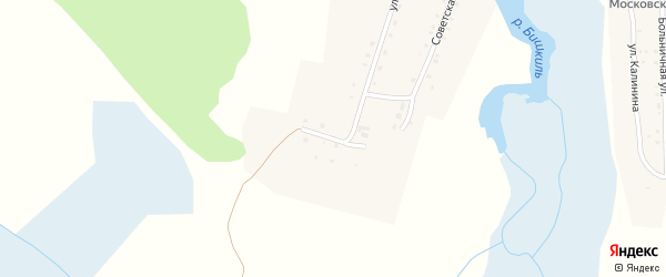 Солнечная улица на карте села Медведево с номерами домов