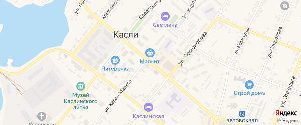 Улица Ленина на карте железнодорожной станции Маук с номерами домов
