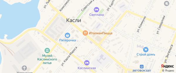 Улица Ленина на карте Касли с номерами домов