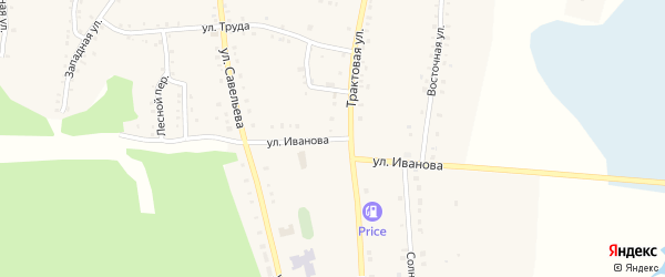 Улица Иванова на карте поселка Бишкиля с номерами домов