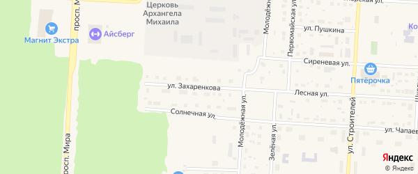 Улица Захаренкова на карте Снежинска с номерами домов